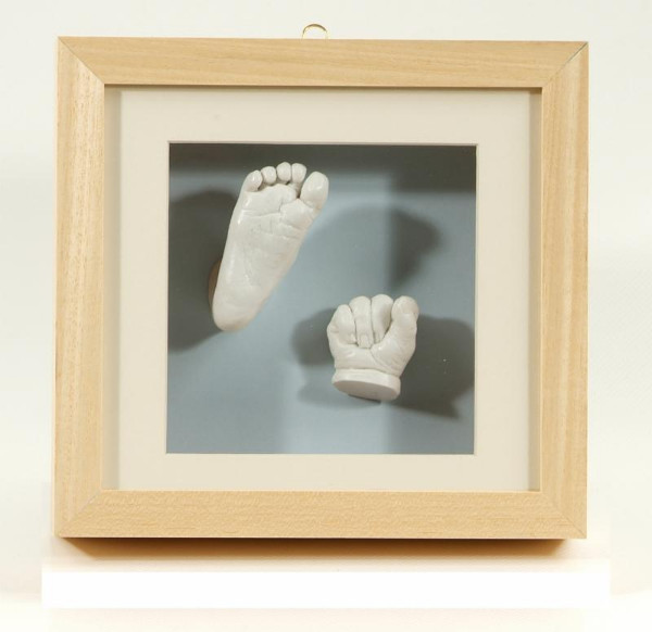 3D baby hand and foot casting white