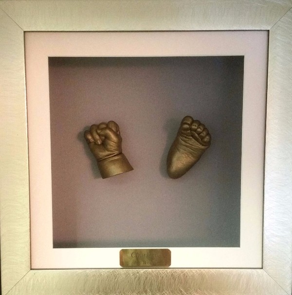 3D hand and foot bronze cast