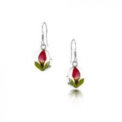 rosebud drop earrings