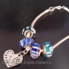 Handprint Silver Keepsake on Pandora Style Bracelet