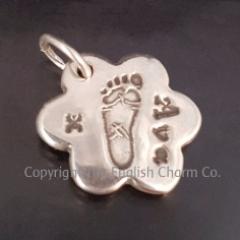 Small Footprint Keepsake Charm