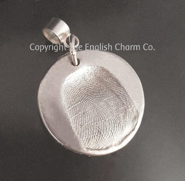 Fingerprint Memorial Charm