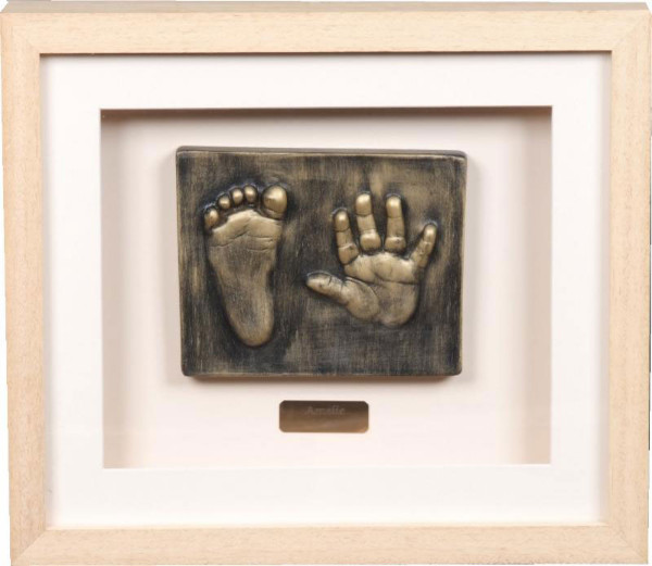 2D Baby hand and foot outprint bronze