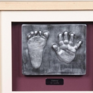 2D Baby hand and foot outprint silver