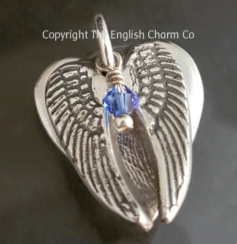 Angel Wings Pendant and Birthstone