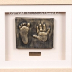 2D hands or feet stone outprint framed
