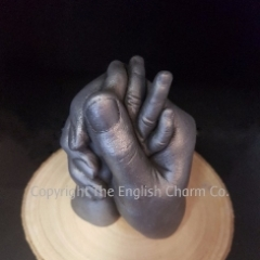 3D hands Entwined Mum Dad and Baby