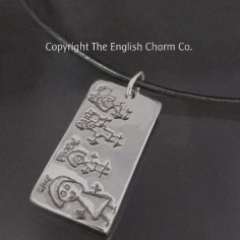 Artwork Charm on Leather Necklet