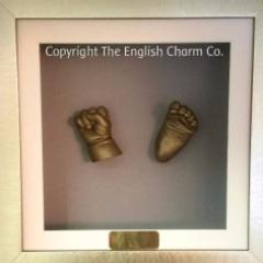 Bronse 3D Baby Casts Framed