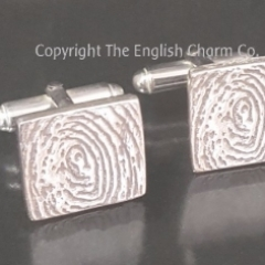 Flattie Fingerprint Cufflinks