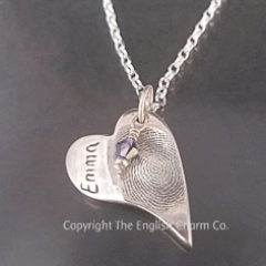Fingerprint Keepsake pendant on chain