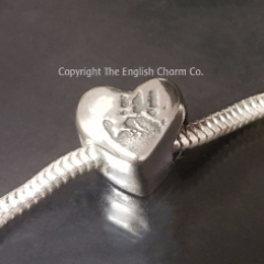 Handprint Bead For Pandora Style Bracelets