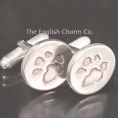 Pet Paw Print Cufflinks