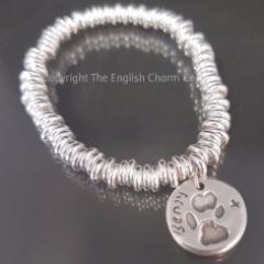 Pet paw print charm on Sweetie Bracelet