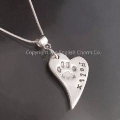 Silver Petprint Pendant on chain