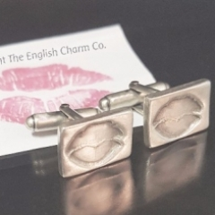 Silver with a Kiss Cufflinks