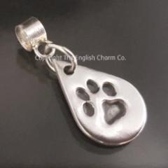 Bracelet Silver Pet Paw Print Charm