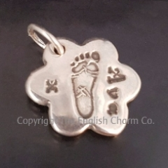 Small Footprint Keepsake Charm
