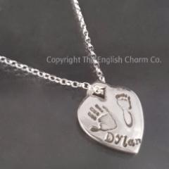 Heart Tag Charm Tiffany Style Heart
