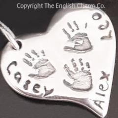 Triple Handprint Charm